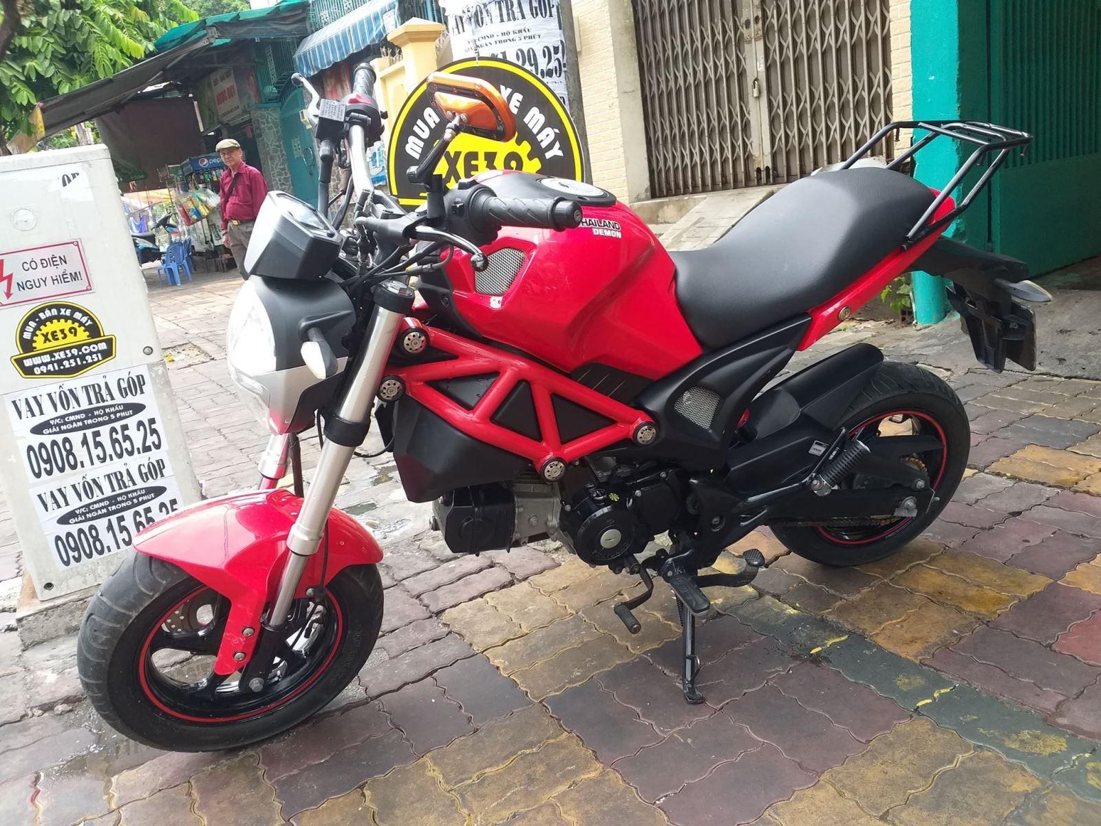 Ducati Mini Monster 110cc côn tay 2017 bs 81 - bán 13tr5