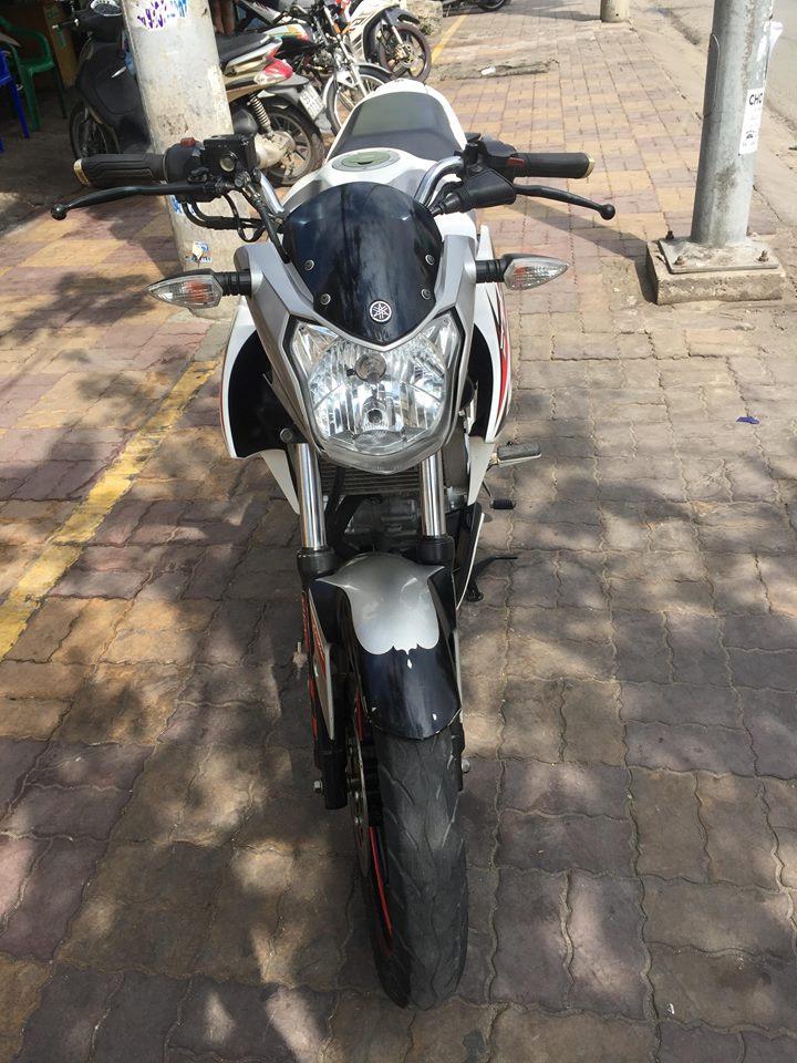 Yamaha FZ 150i Fi trắng bạc 2014 bao rút hồ sơ