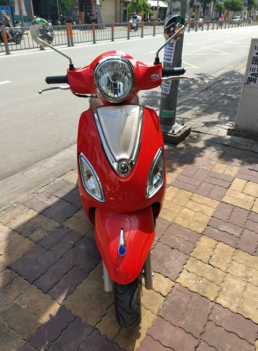 Sym Attila Elizabeth V 125cc 2017 màu đỏ bstp 622.04 giá bán 17tr8