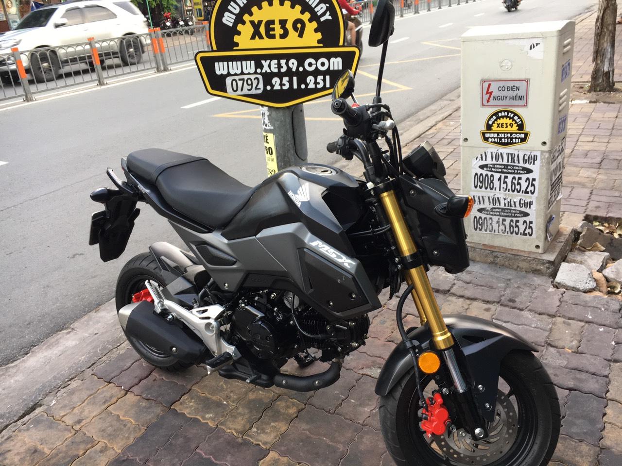 Honda MSX  125cc 2018 xe thái Fi đen nhám  xe bstp 9 chủ bán 41tr