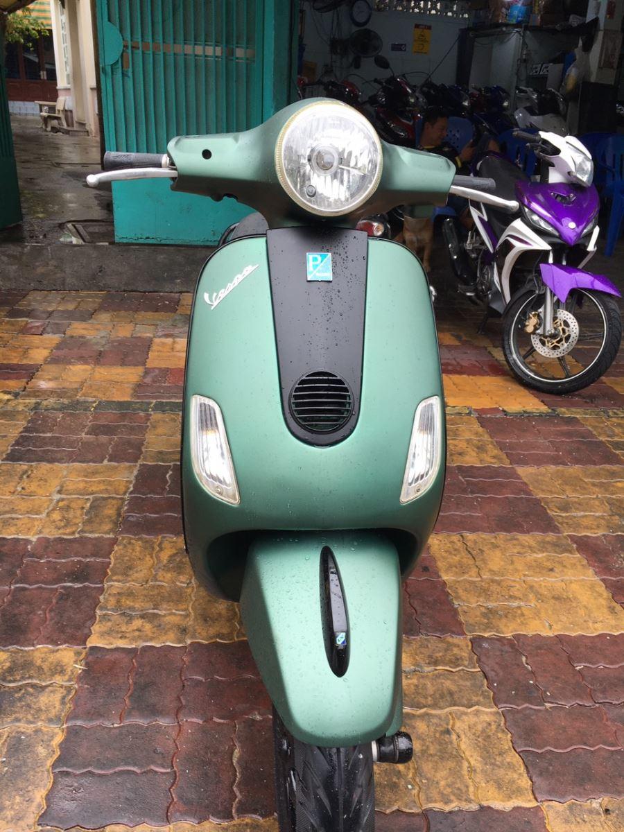Piaggio Vespa 125ie 2011 xe bstp 107.65 xanh nhám bán 18tr8